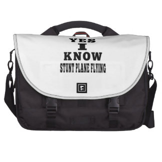 Yes I Know Stunt Plane Flying Commuter Bag