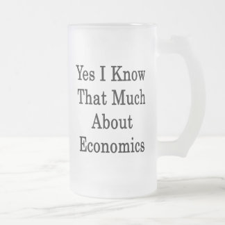 Yes I Know That Much About Economics Frosted Glass Mug