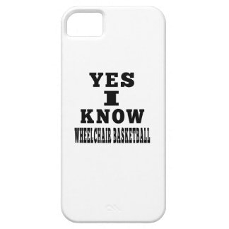 Yes I Know Wheelchair Basketball iPhone 5 Cover
