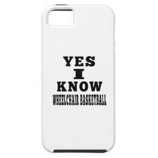 Yes I Know Wheelchair Basketball iPhone 5 Cases