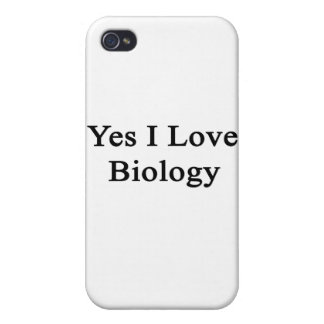 Yes I Love Biology iPhone 4/4S Covers