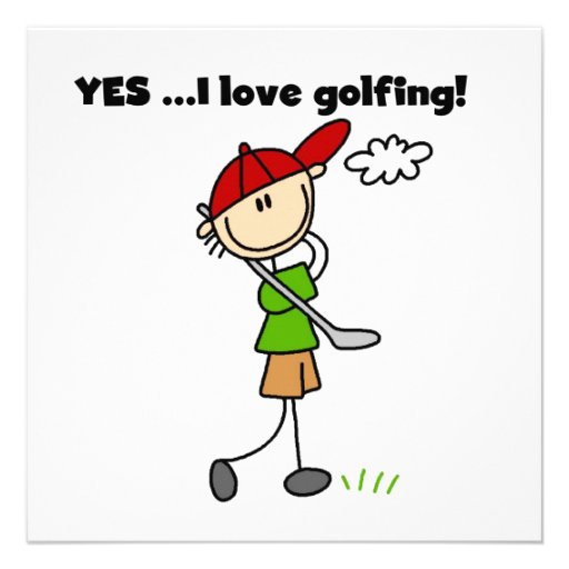 Yes I Love Golfing Personalized Invite
