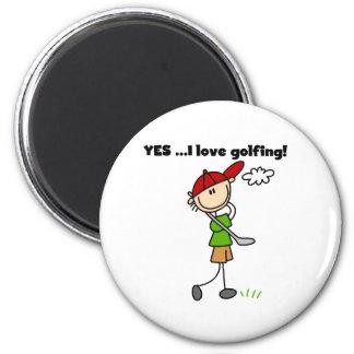 YES I Love Golfing Fridge Magnet