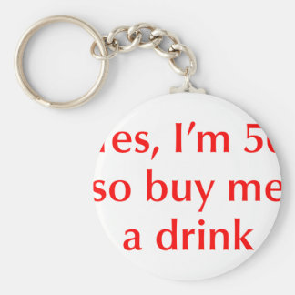 yes-Im-50-opt-red png Key Chains