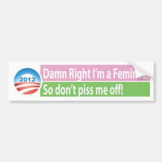 Yes I'm a Feminazi! Bumper Sticker