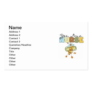 YES I'm a Nurse T-shirts and Gifts Pack Of Standard Business Cards