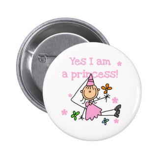 Yes I'm a Princess 6 Cm Round Badge