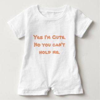 Yes I'm Cute Baby Bodysuit