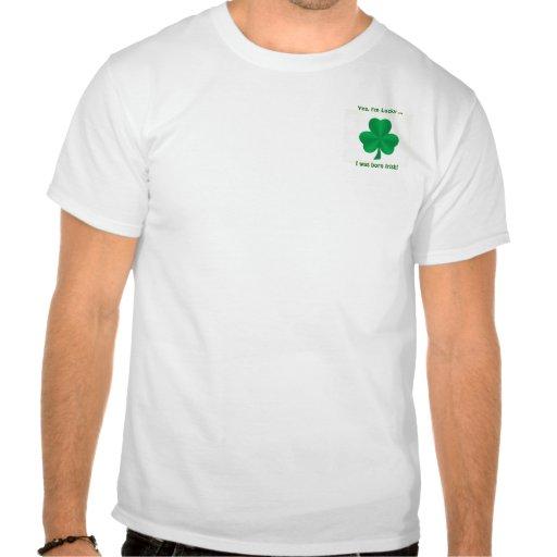 Yes, I'm Lucky Irish Shamrock Men's Pocket T-Shirt