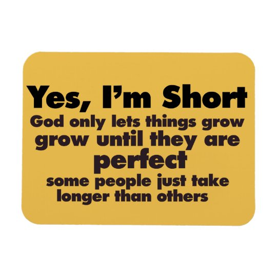 Yes I'm SHORT Rectangular Photo Magnet