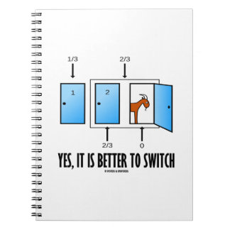 Yes, It Is Better To Switch (Three Doors One Goat) Spiral Notebook
