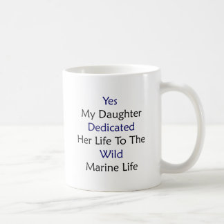 Yes My Daughter Dedicated Her Life To The Wild Mar Mugs