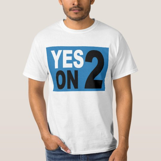 Yes on 2 T-shirt Men's Large