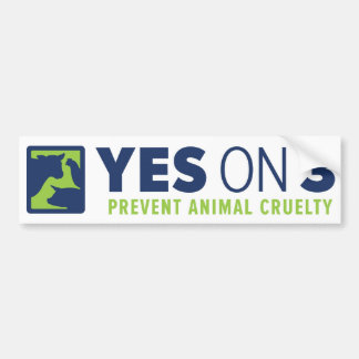 Yes on 3! Bumper Sticker