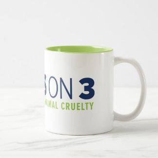 Yes on 3! Two-tone Mug