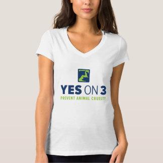 Yes on 3! V-neck T-Shirt