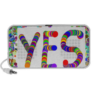 YES : Positive Attitude :  Graphic Text n Border iPhone Speakers