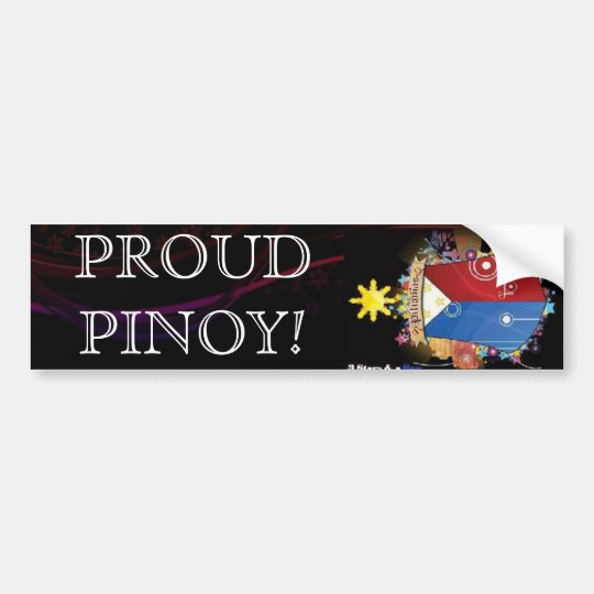 yes, PROUD PINOY! Bumper Sticker