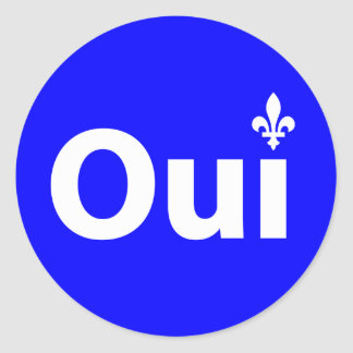 YES QUEBEC (self-adhesive) Classic Round Sticker