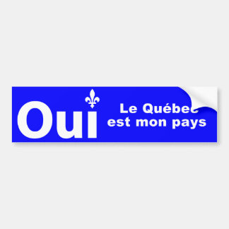 YES Quebec (self-adhesive of car) Bumper Sticker