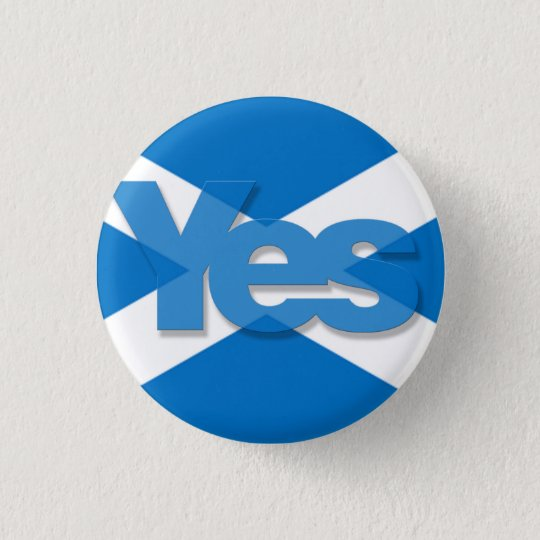 Yes Saltire 3 Cm Round Badge