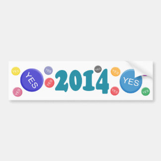 Yes Scotland Badges Bumper Sticker