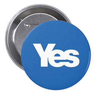 Yes Scotland Scottish Independence 2014 7.5 Cm Round Badge