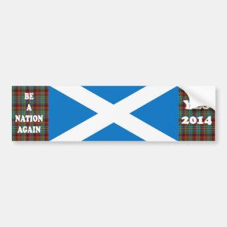 Yes Scotland Tartan Bumper Sticker