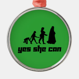 Yes she can christmas ornament