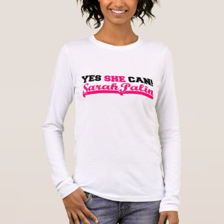 Yes She Can - Sporty Long Sleeve Long Sleeve T-Shirt