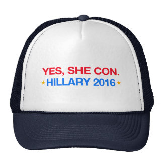 yes,she con. hillary 2016 cap
