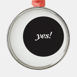YES! Silver-Colored ROUND DECORATION