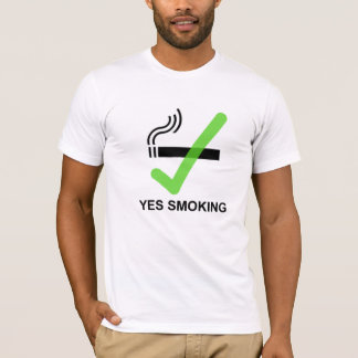 YES SMOKING No Smoking Tee V2 - Apparel White