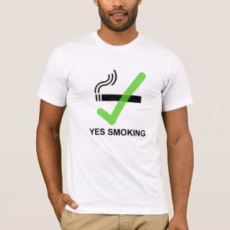 YES SMOKING No Smoking Tee V2 - Apparel White