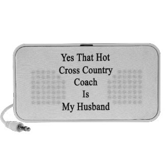 Yes That Hot Cross Country Coach Is My Husband Portable Speaker