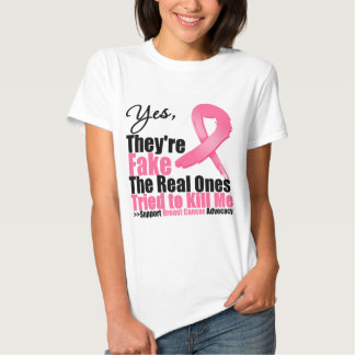YES They're fake....My real ones tried to kill me Tees