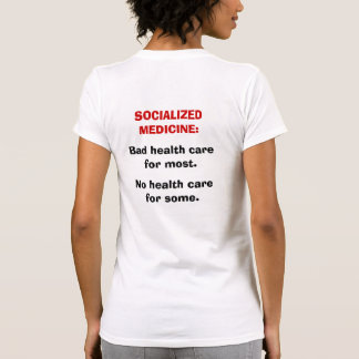 YES TO FREEDOM NO TO SOCIALIZED MEDICINE T-SHIRT