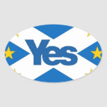 Yes to Independant European Scotland Oval Sticker