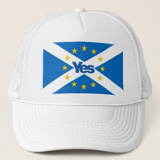 Yes to Independent European Scotland Trucker Hat