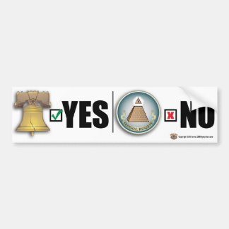 Yes to LIBERTY No to FED Bumper Sticker