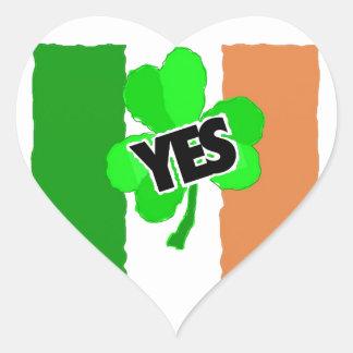 Yes to the Irish. Heart Sticker