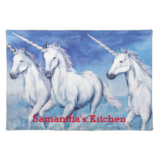 "Yes, Unicorns Exist! Place Mats 20"" x 14"""