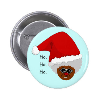 Yes, Virginia, There is a Black Santa Claus 6 Cm Round Badge