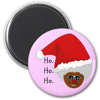 Yes, Virginia, There is a Black Santa Claus 6 Cm Round Magnet