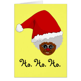Yes, Virginia, There is a Black Santa Claus Card