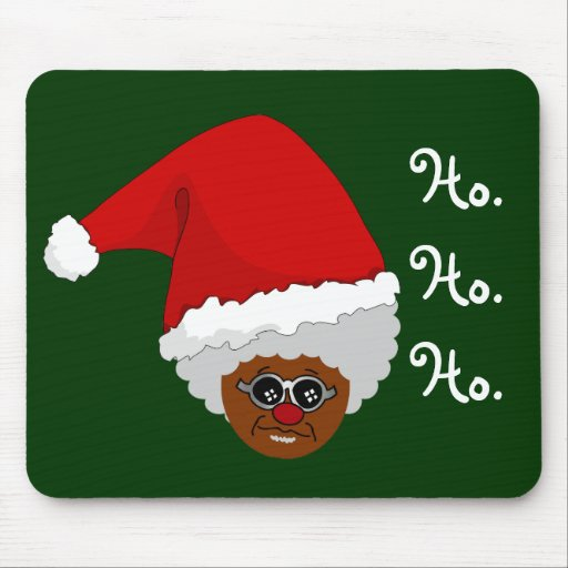 Yes Virginia There Is A Black Santa Claus Mouse Pad Zazzle