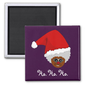 Yes, Virginia, There is a Black Santa Claus Square Magnet