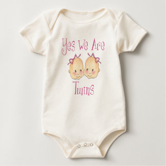 Yes we are twins - Girls Baby Bodysuit