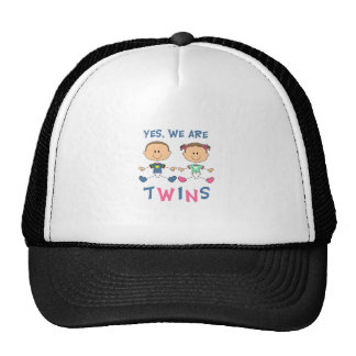 YES WE ARE TWINS HATS