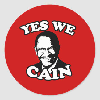 Yes We Cain Round Stickers